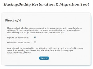 Doing a blog migration with BackupBuddy