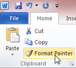 How to format multiple elements in Word