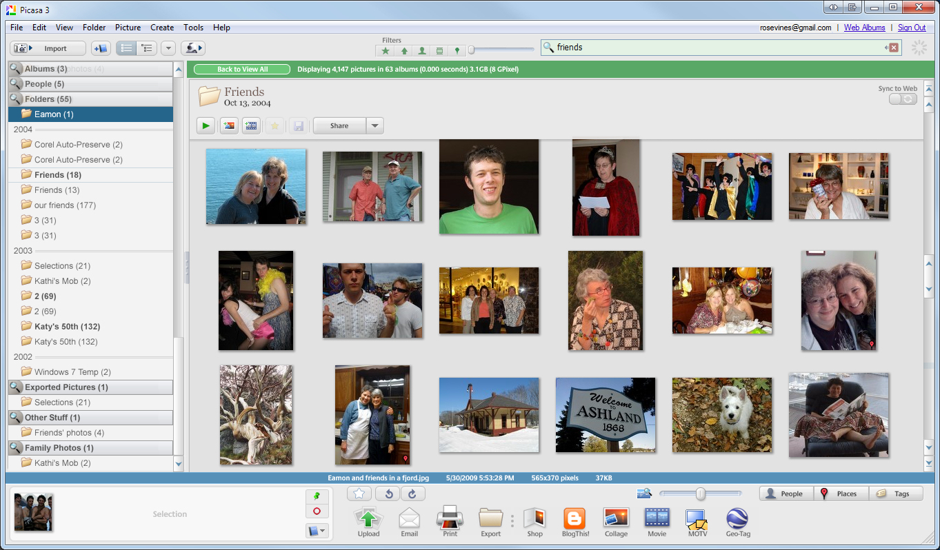 Picasa helps you take charge of your digital photo archives.