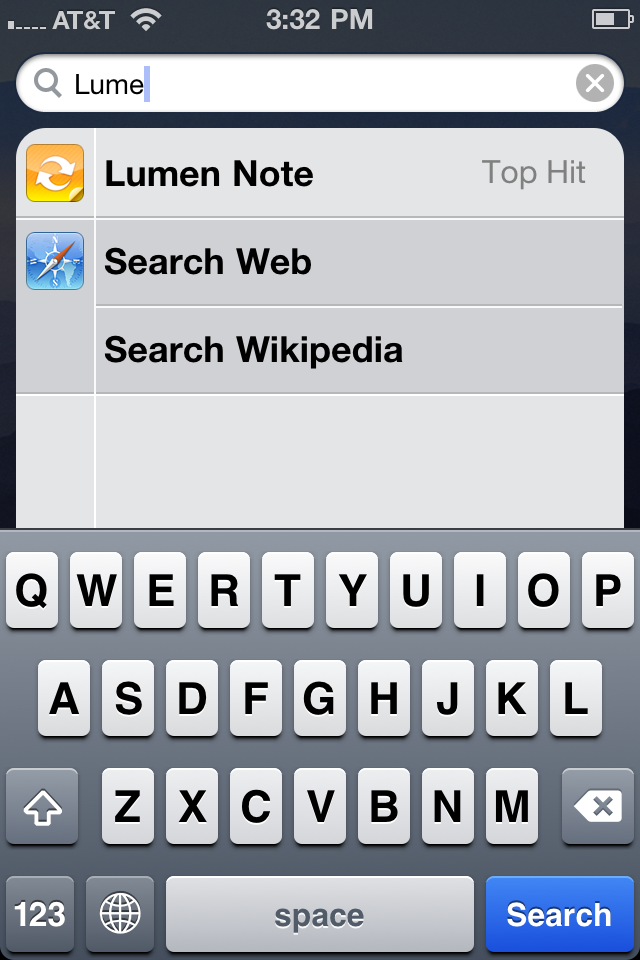 Using Spotlight search to run a hidden app