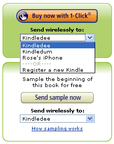 Sending a kindle book to the iPhone