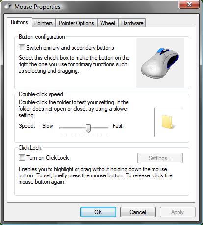 Mouse configuration