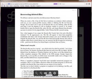 Distraction-free web reading