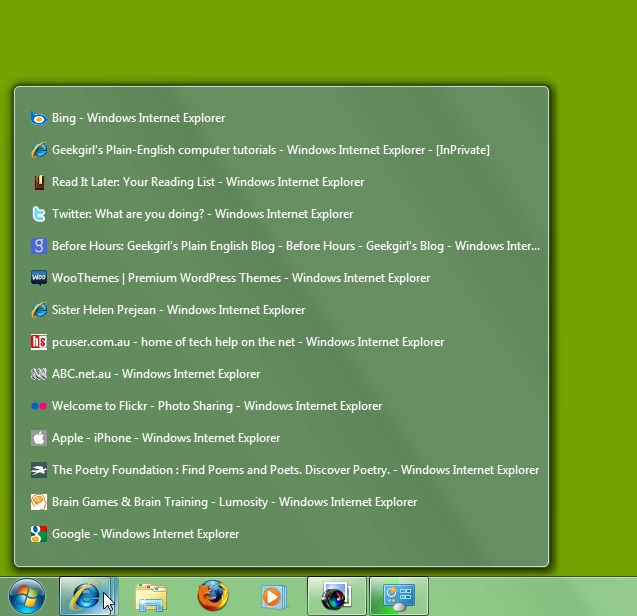 Learning to love the new taskbar