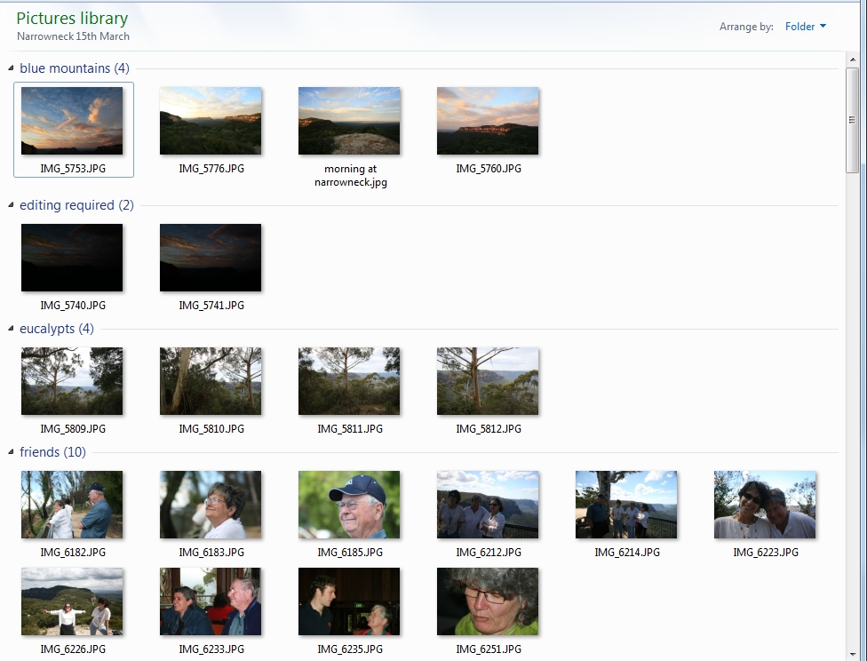 Viewing and organising files